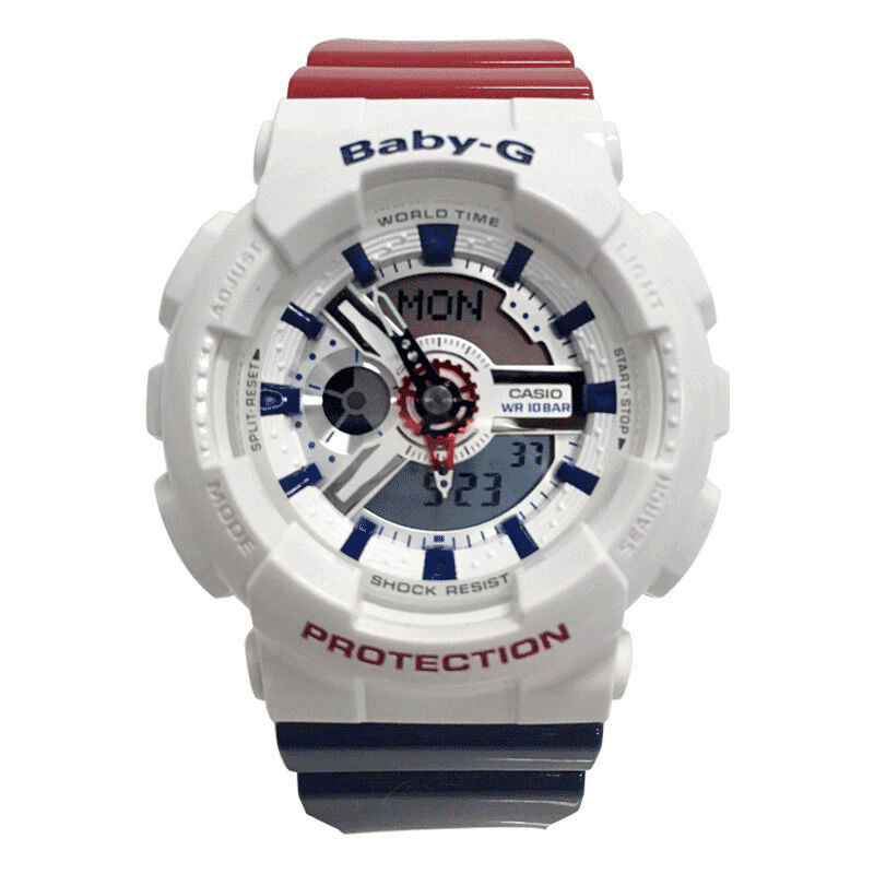 Casio baby-g watches fashion trend of electronic student movement waterproof female form ba-110TR-7A