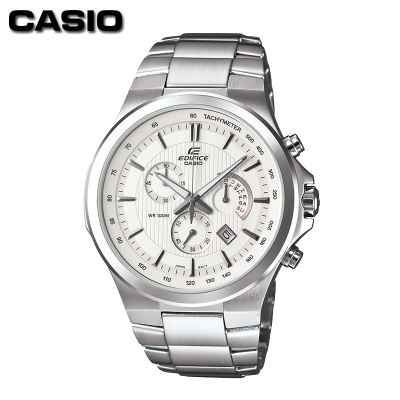 Casio/casio classic male table couple of tables steel three steel quartz watch waterproof watch efr-500d-7a