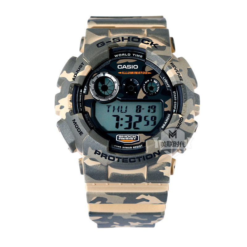 Casio watches casio g-shock sports waterproof and shockproof antimagnetic watch gd-120CM-5D