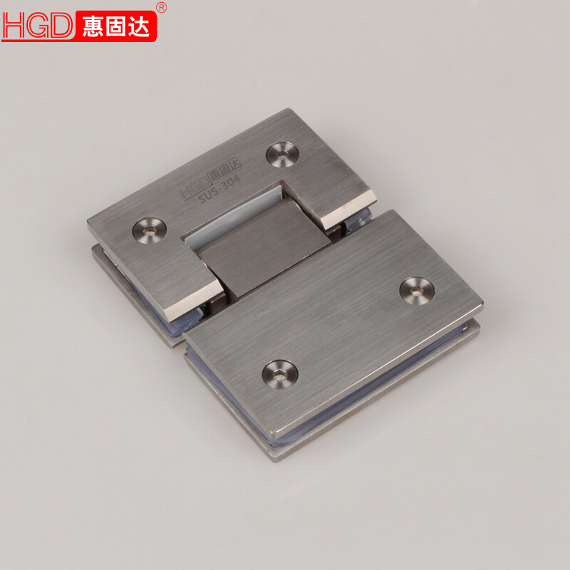 Cast 304 stainless steel bathroom clip frameless glass shower door glass folder hinge hinge 180 degrees