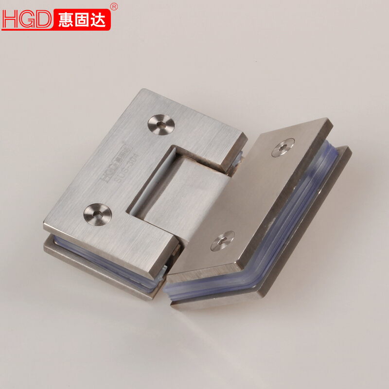 Cast 304 stainless steel bathroom clip frameless glass shower door hinge glass door hinge 135 degrees