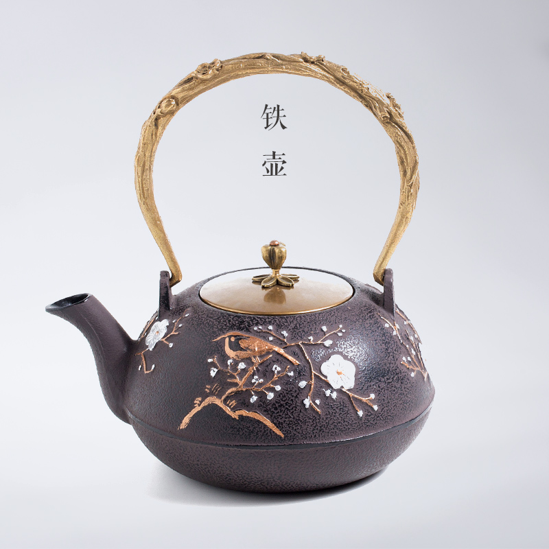 Cast iron pot uncoated iron teapot handmade japanese imports southern iron kettle old iron pot of tea cooked tea
