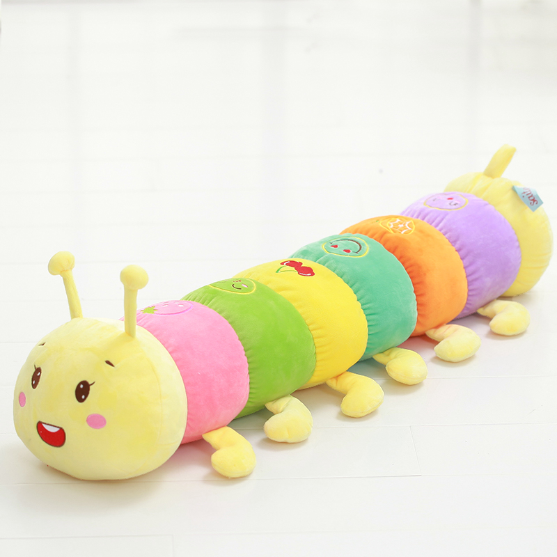 Caterpillar plush toy doll creative children's colorful caterpillar pillow doll dolls to send girls