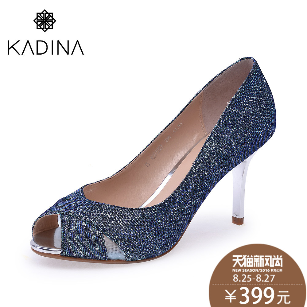 Catina/kadina KS51527 diamond elegant fish head fine with high heels shallow mouth singles shoes spring