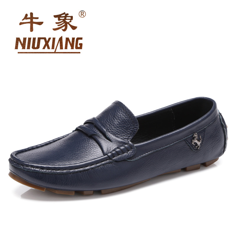 Cattle like leather peas shoes spring fashion men's driving shoes lazy shoes driving shoes men's leather shoes casual shoes