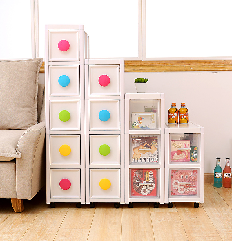 Caught plastic drawer storage cabinet locker lockers child baby wardrobe bathroom cabinet finishing thick