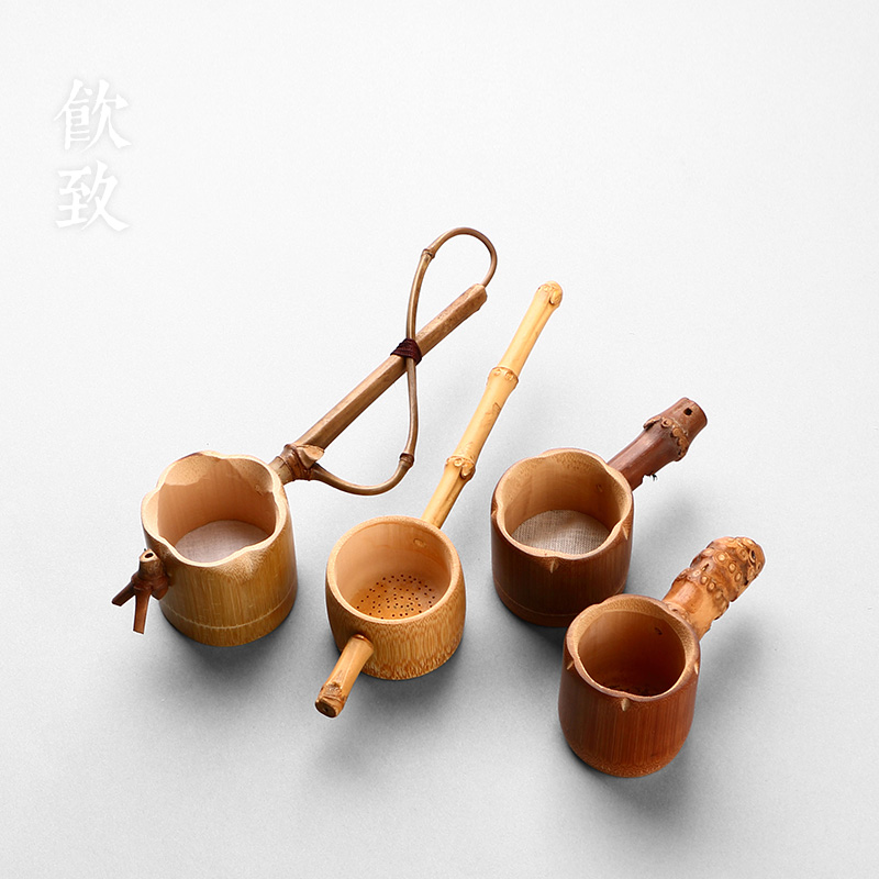 Caused by drinking tea moso bamboo tea filter strainer spoon zhugen bamboo tea strainers tea consider creative tea filter zero Accessories