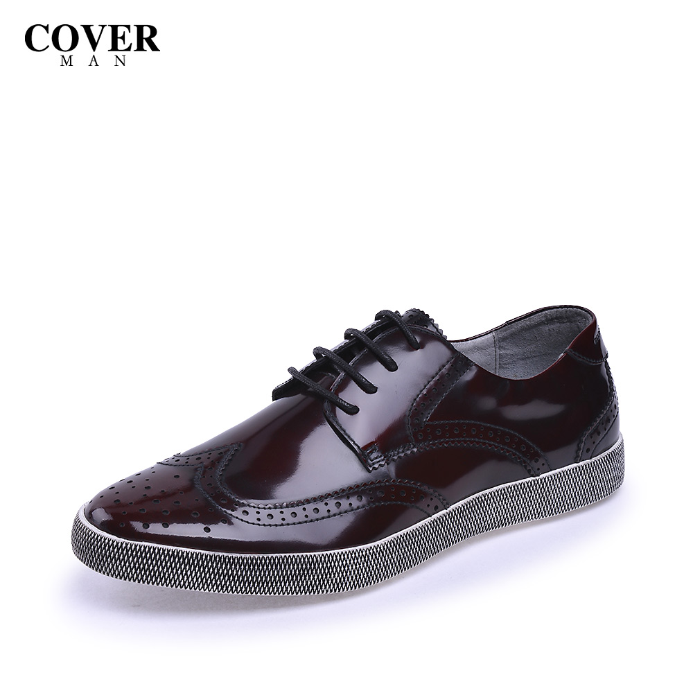 Cavan/cover2015 CS55128 first layer of leather casual shoes lace men