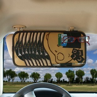 Cd bag cd car visor clip card clip clip car cd storage bag car cd clip car clip car with storage