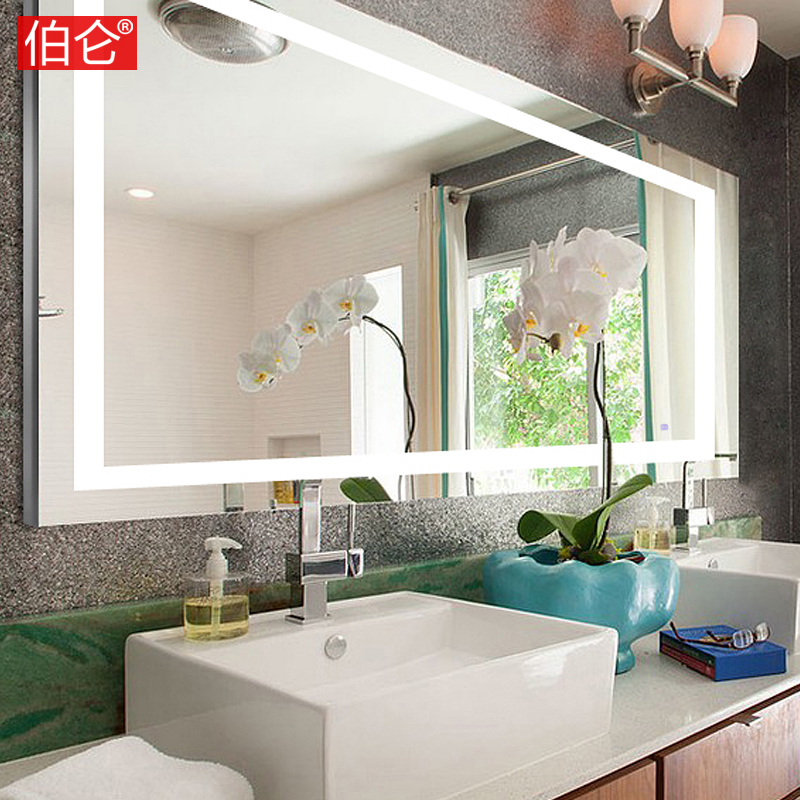 Chamberlin translucidus mirror with led lights bathroom mirror bathroom mirror wall mirror bathroom mirror frameless health bath mirror can be customized