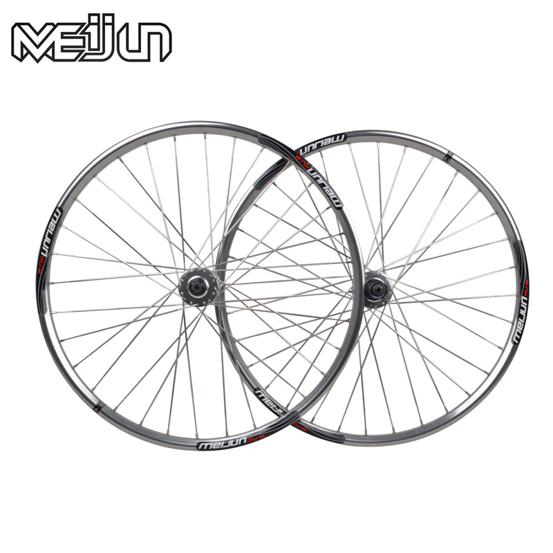 Charm colt meijun 26 inch wheels mountain bike disc wheels polished polished silver light silver flat spokes breaking wind