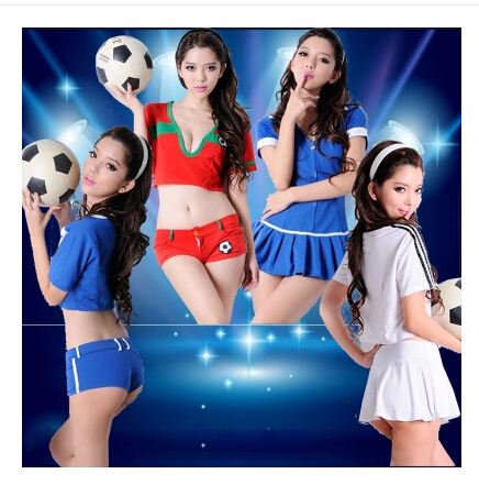 Cheerleading clothes cheerleading costume sexy costumes ds stage performance clothing aerobics european cup football baby cheerleader