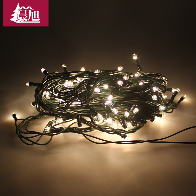 Chen xu christmas lights 10 m 200 lights christmas lights green light string lights string of holiday lights neon lights