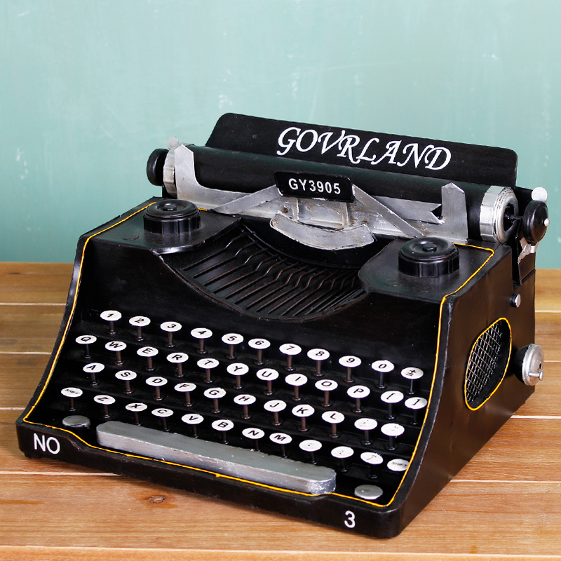 Cheng yi creative ornaments retro metal typewriter fine edition camera video bar cafe decorative handicrafts shop