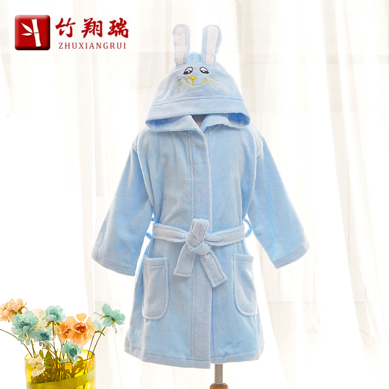 Cheung shui bamboo paternity male and female models thick cotton hooded bathrobe children cloak cotton toweling bathrobe toweling card through the