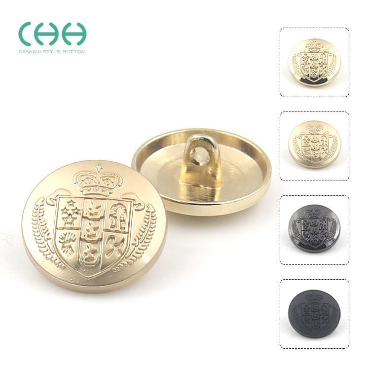 Chh clothing british style metal buttons golden crown female small suit men's suit buttons buttoned yikou