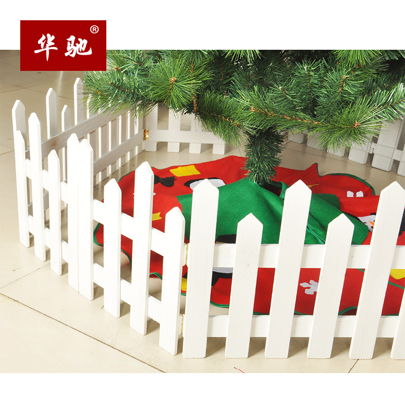 get quotations chi christmas decorations 16 m height rod fence white wooden fence fence fence christmas tree scene - Christmas Fence Decorations