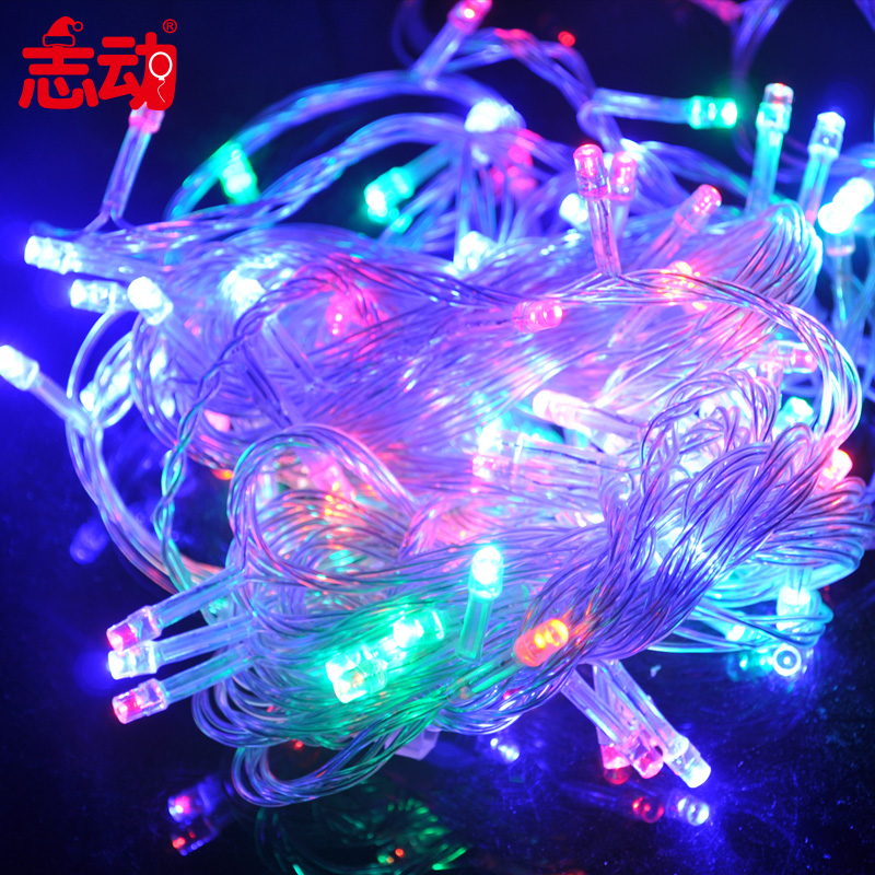 Chi move 10 m 100 controllable colorful led lights change decorative light string lights with tail plug festival venue decoration