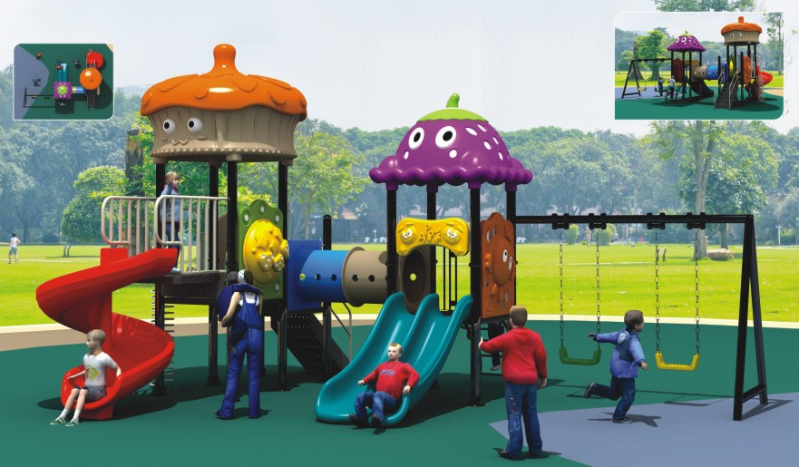 Children combination doctor slides kindergarten large outdoor plastic toys amusement park district facilities