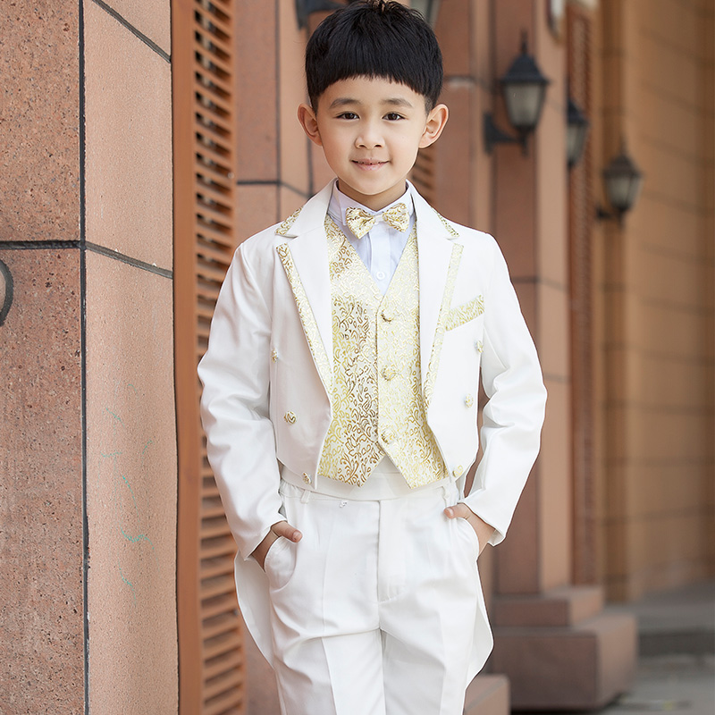 Children dress suits tuxedo boy child flower girl dresses suits boy suit autumn paragraph korean version of children's clothing suit costumes