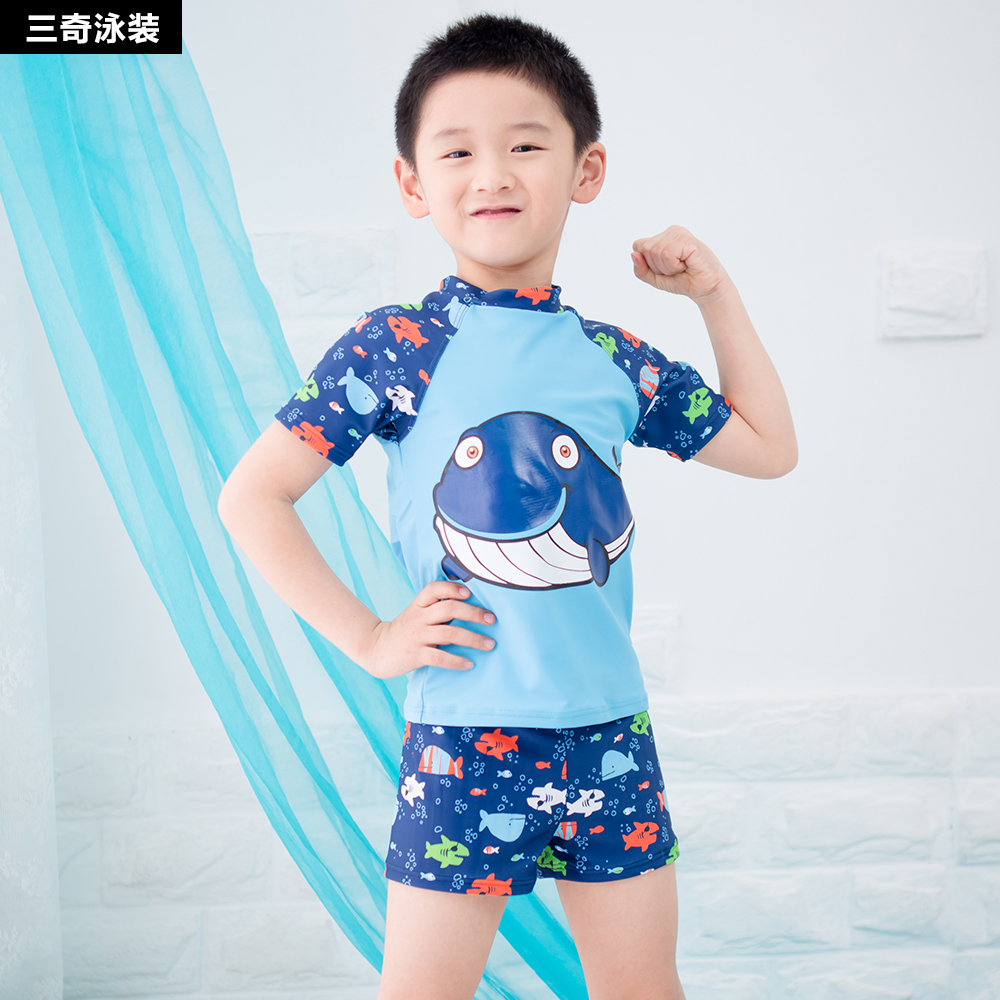 6b1e8e6e4f Get Quotations · Children split swimsuit swimsuit infant baby boy big  virgin child boxer swim trunks swimming suit