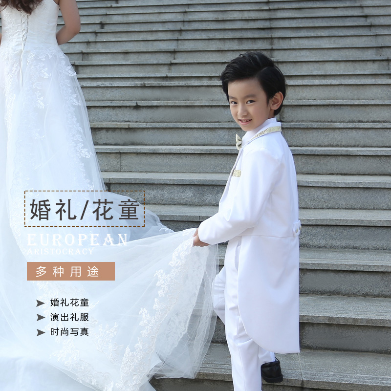 Children tuxedo suits boy suit flower girl dresses wedding dress suit small host clothing piano performances out of service