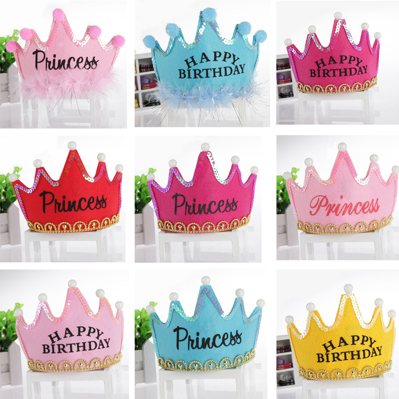 Get Quotations Children Under The Age Of Baby Birthday Party Hat Headdress Luminous Crown