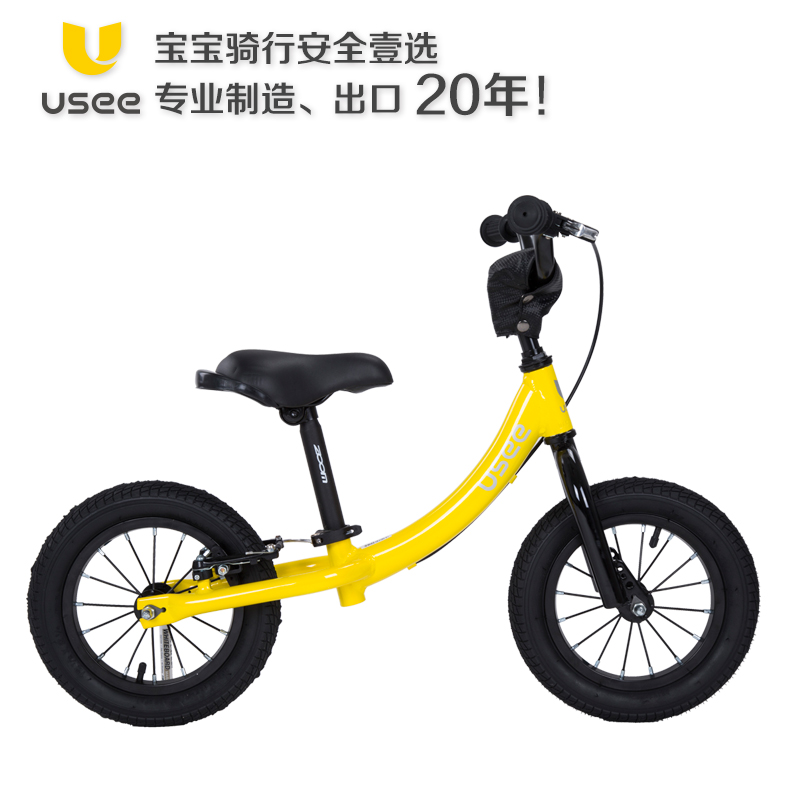 Children's balance bike usee aluminum alloy car sliding car without pedal 12 inch two drlving 6  years old