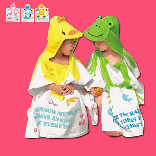 Children's bath towel beach towel bathrobe children bathrobe free shipping cotton towel bathrobe baby bathrobe bathrobe cloak
