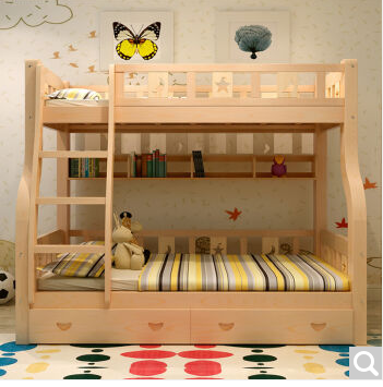 Children's bed pine wood bed picture bed bunk bed bunk bed bunk bed bunk bed ladder cabinet varnish varnish