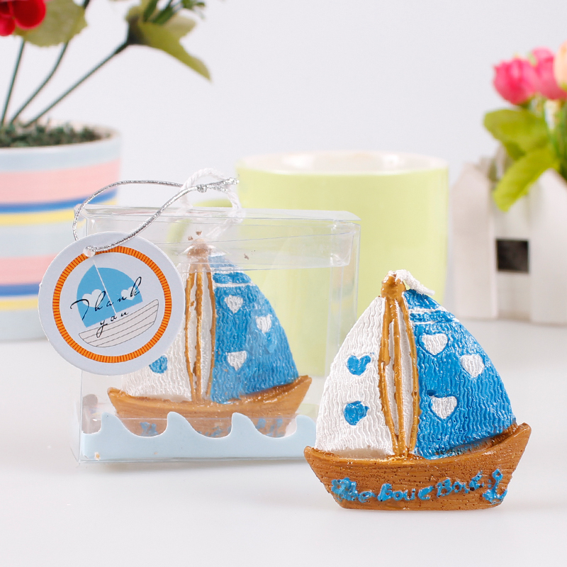 Children's birthday party dress baby birthday birthday wedding dress supplies creative candle small candles smokeless small sailboat