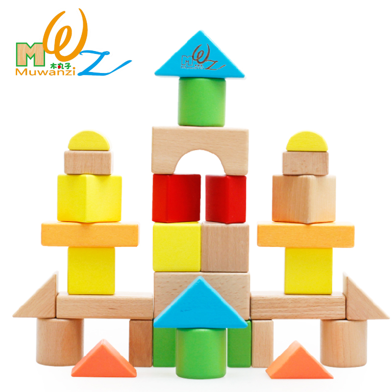 Children's building blocks of large particles bottled blocks wooden toys baby puzzle force 1-2-3 years old boys and girls gifts