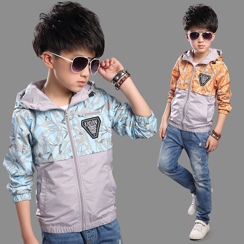 Children's clothing boy coat 2016 spring and autumn big virgin boy coat jacket boys jackets spring 9 children 13 years old