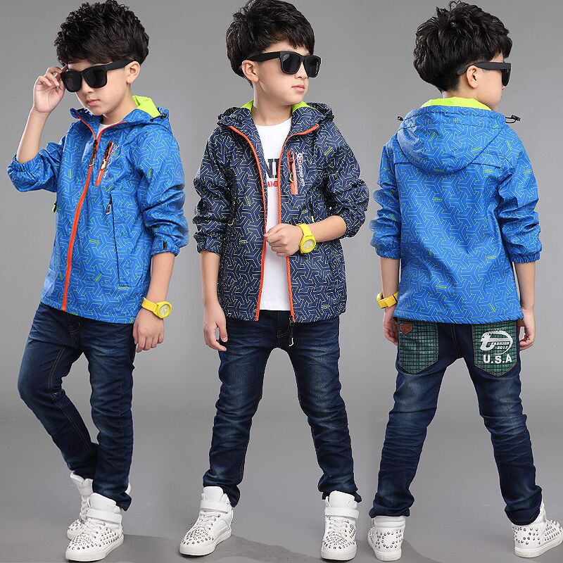 39461fc5c5b8 Get Quotations · Children s clothing boy coat 2016 spring and autumn new 6  8 children s outdoor jackets big virgin