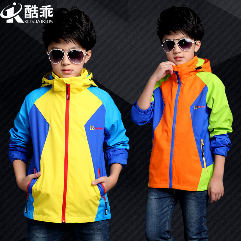 Children's clothing boy coat 2016 spring and autumn new large children's outdoor jackets thin coat zipper sweater tide