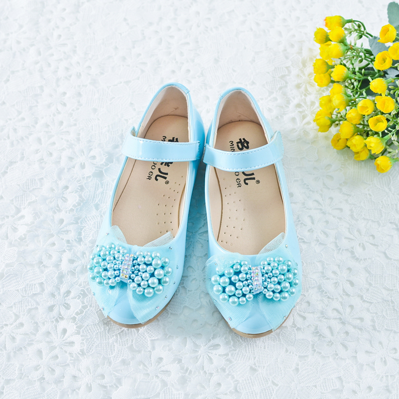 Children's clothing girls shoes girls shoes princess shoes girls shoes flat shoes autumn shoes small children shoes student performance dress