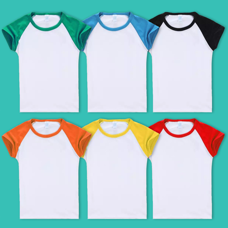 Children's cotton short sleeve t-shirt diy custom advertising kindergarten t-shirts custom shirt printing logo
