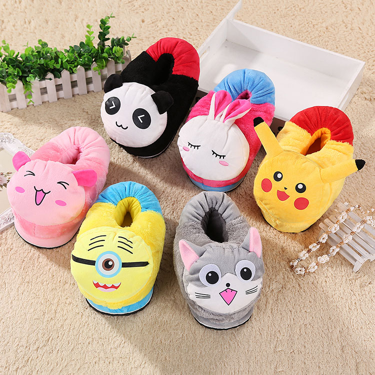 Children's cotton slippers cute cartoon baby elephant creative padded plush home the whole package with a couple warm thick crust paternity