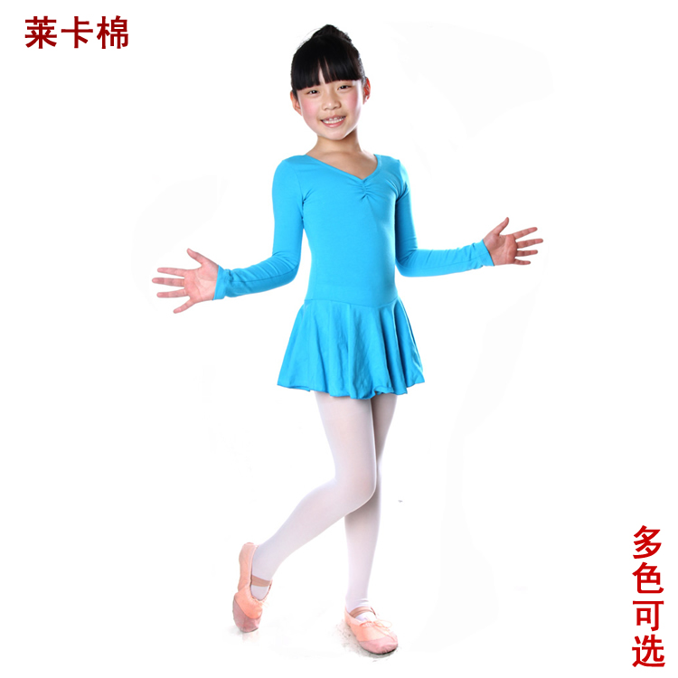 Children's dance tina sleeved ballet dance clothes and girls clothes and children's gymnastics shaped body exam jumpsuit clothes