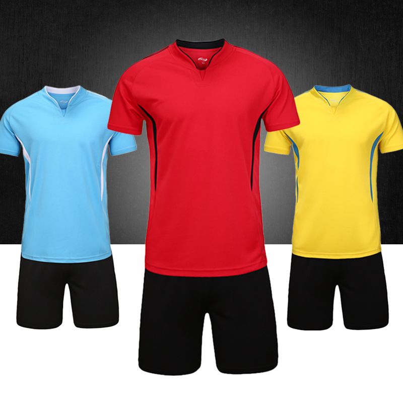 Children's football clothes suit summer men short sleeve sports team training suit light board customized female long sleeve soccer jersey