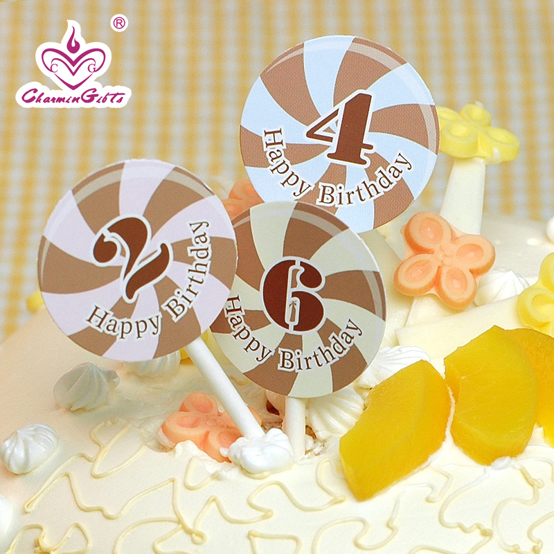 Children's holiday party supplies creative birthday cake small flags digital greeting card korea
