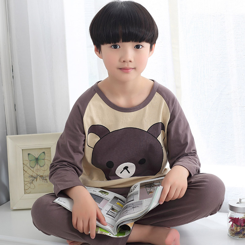 Children's pajamas cotton long sleeve spring and autumn boy child sized baby summer air conditioning service men and children tracksuit suit