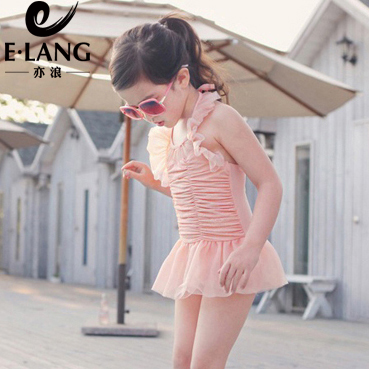 Children's swimsuit girls conjoined girls korean princess dress baby infant child kiss son cruisewear suit swimsuit