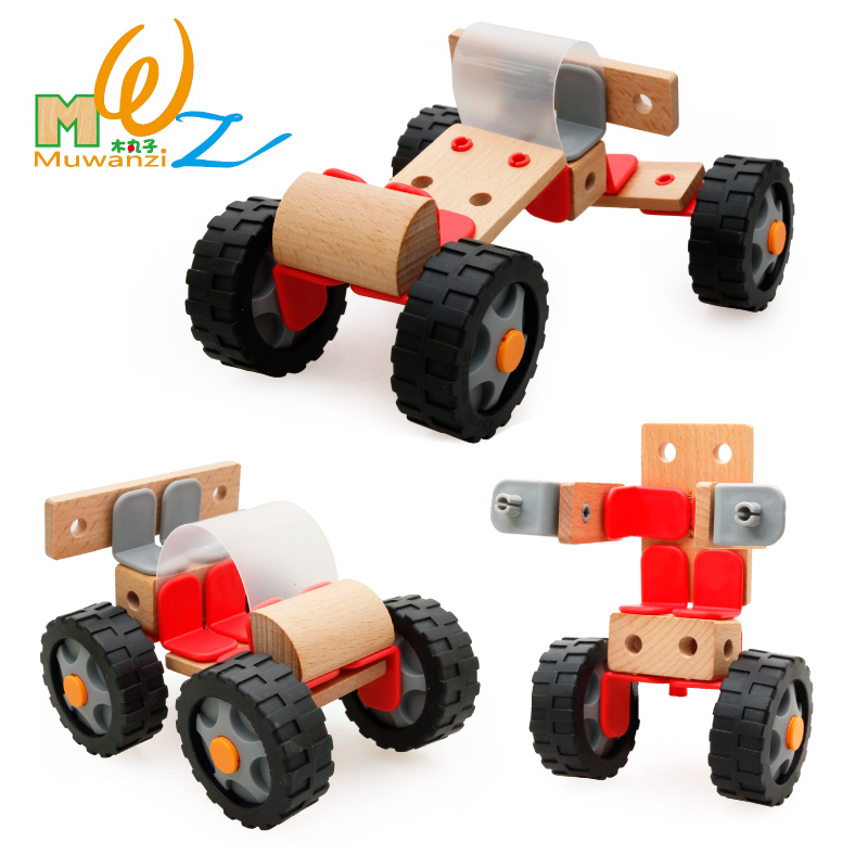 Children's wooden balls wooden nut combination disassembly fight fight inserted blocks baby toy car model boy force