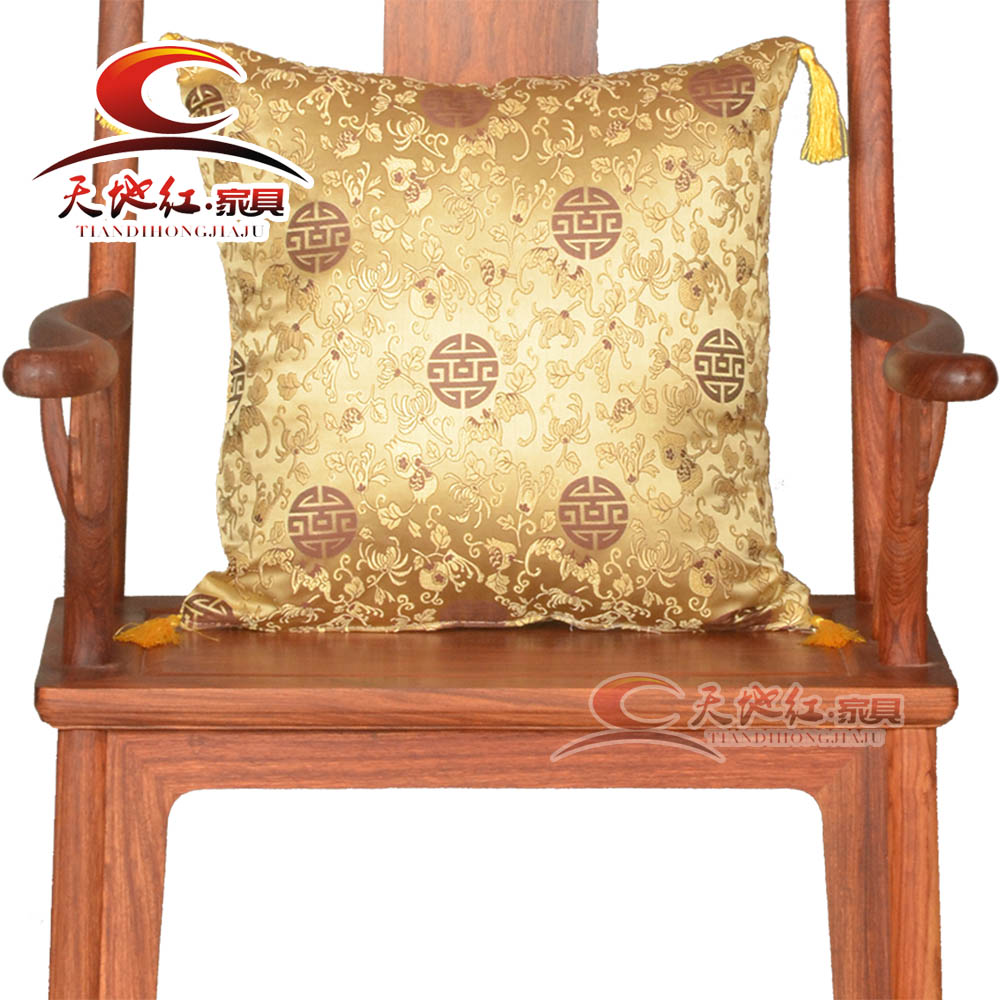 Chinese classical mahogany wood furniture fabric sofa fabric sofa chair palace chair leisure chair cushion pillow cushion