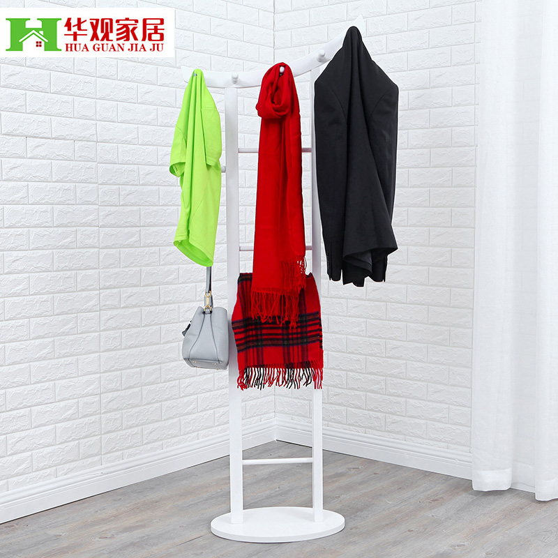 Chinese concept of modern fashion ikea wood hangers coat rack simple creative assembly bedroom room floor creative hangers