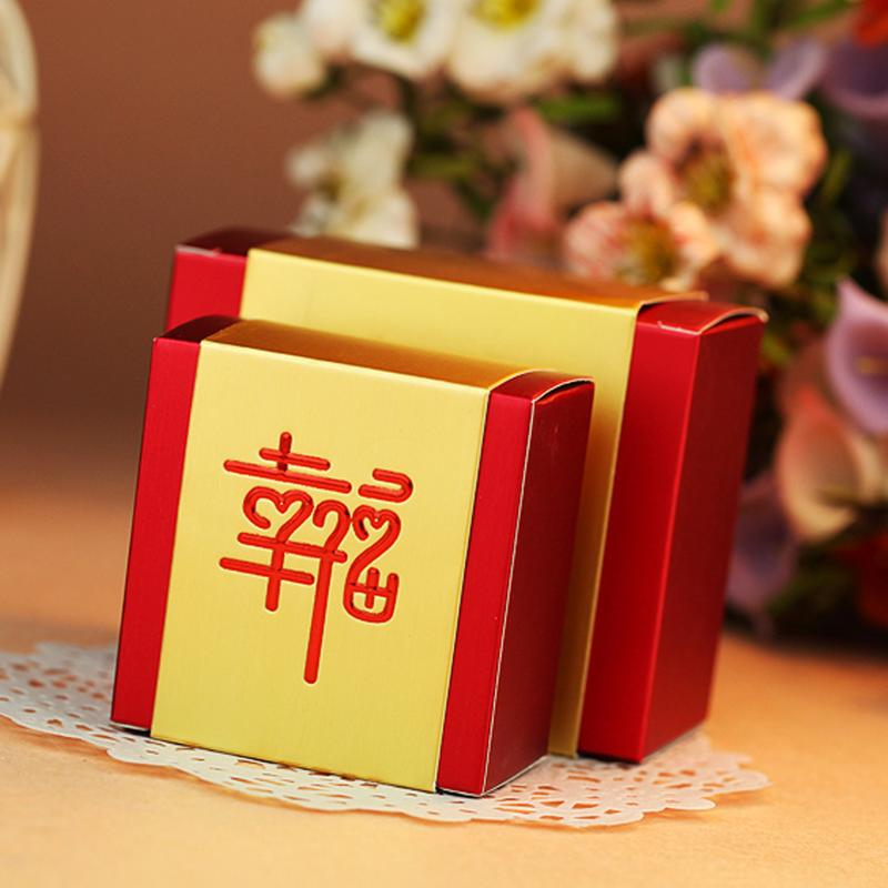 Chinese creative wedding supplies wedding candy box wedding box happiness envelopes aluminum foil candy box candy box