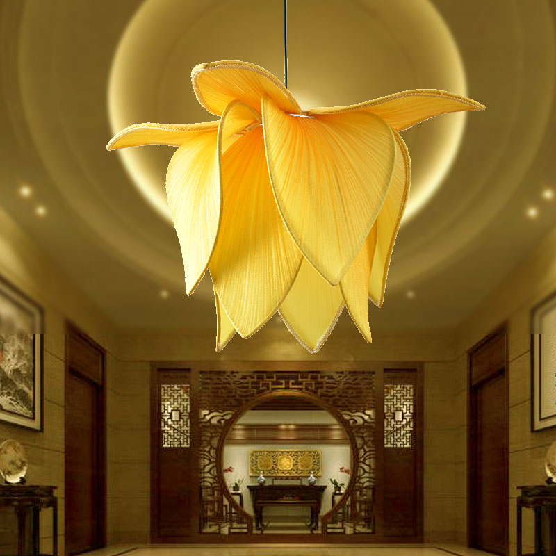 China fabric lamp shades china fabric lamp shades shopping guide at get quotations chinese marine fabric lotus lamp lotus lamp lighting modern minimalist chandelier bedroom hallway decorative fabric lamp aloadofball Image collections