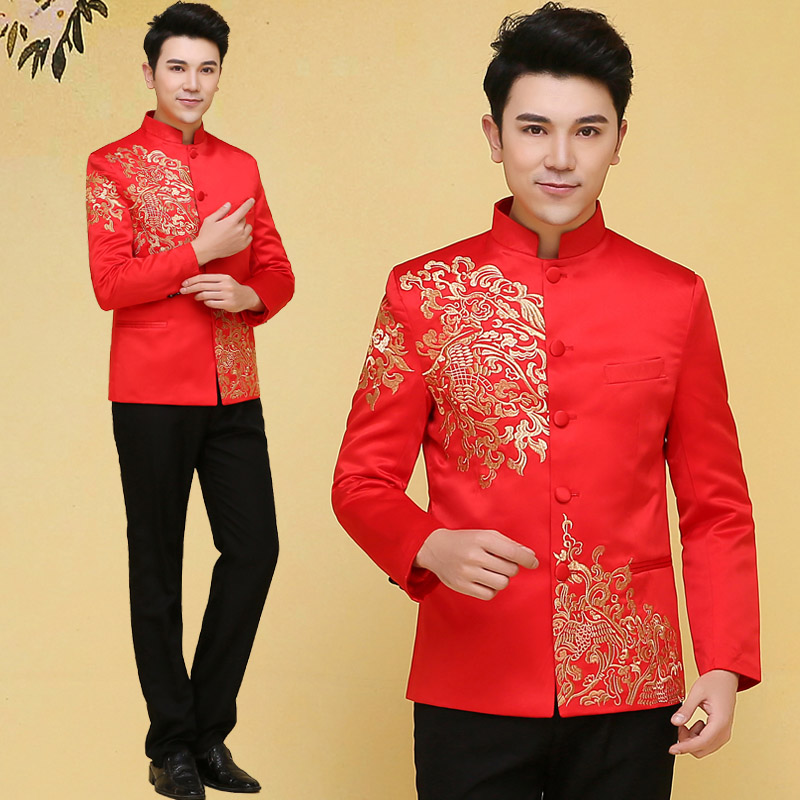 a1ffa3f97 Buy Chinese mens wedding dress and groom toast clothing xiu dragon gown  costume ancient hi clothing xiu xiu kimono dress fall and winter in Cheap  Price on ...