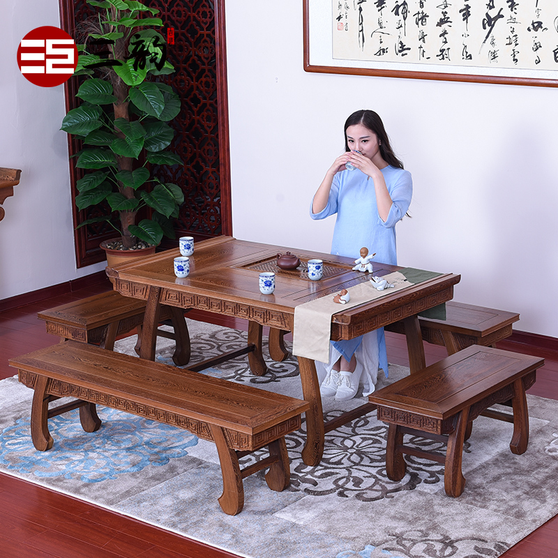 Chinese style mahogany furniture tea table tea table and chair combination of solid wood antique chinese tea table tea table tea table tea table tea table tea table wenge wood tea table tea sets